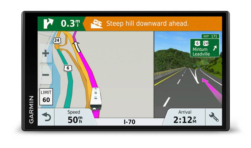 As with many caravan and motorhome sat nav devices, the Garmin 770 LMT-D offers a junction view and lane guidance feature.