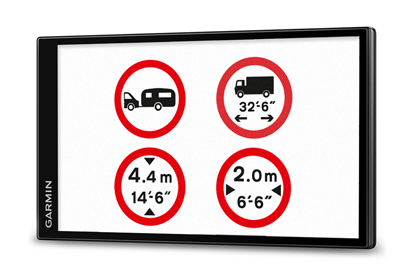 There are dimension and weight restrictions on the road for vehicles like motorhomes and caravans. Specific motorhome and caravan sat nav devices are able to plan itineraries on suitable roads