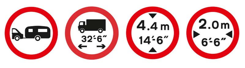 Drivers should pay attention to these road signs even when using very efficient caravan and motorhome sat nav.