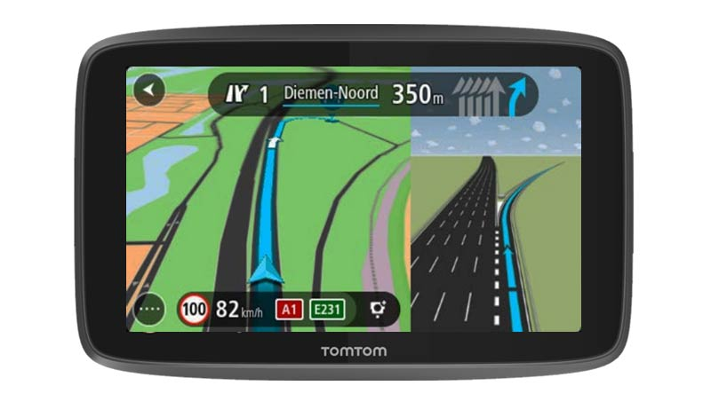 Like with most caravan and motorhome sat nav devices, a junction view and lane guidance feature is offered on the TomTom.